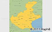 Savanna Style Simple Map of Veneto