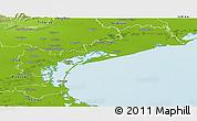 Physical Panoramic Map of Venezia