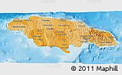 Political Shades 3D Map of Jamaica