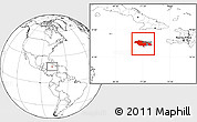 Blank Location Map of Jamaica