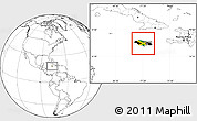 Flag Location Map of Jamaica, blank outside