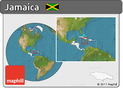 Free satellite location map of jamaica highlighted continent satellite location map of jamaica highlighted continent within the entire continent gumiabroncs Images