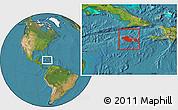 Satellite Location Map of Jamaica
