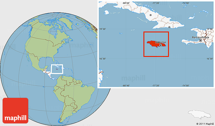 Savanna style location map of jamaica highlighted continent 2d gumiabroncs Image collections