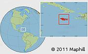 Savanna Style Location Map of Jamaica
