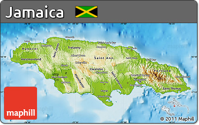 Free physical map of jamaica physical map of jamaica physical map of jamaica gumiabroncs Gallery