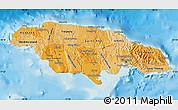 Political Shades Map of Jamaica