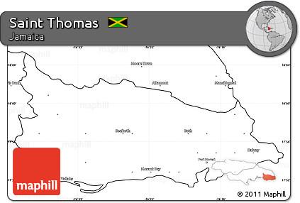 Free Blank Simple Map of Saint Thomas