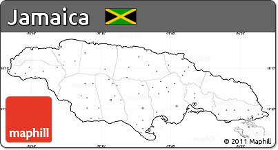 Free Blank Simple Map of Jamaica, no labels