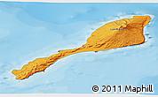Political Shades 3D Map of Jan Mayen