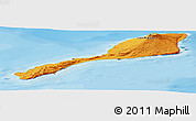 Political Shades Panoramic Map of Jan Mayen
