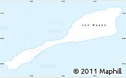 Silver Style Simple Map of Jan Mayen
