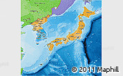 Political Shades 3D Map of Japan