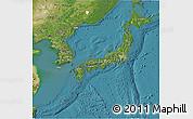Satellite 3D Map of Japan