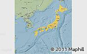 Savanna Style 3D Map of Japan