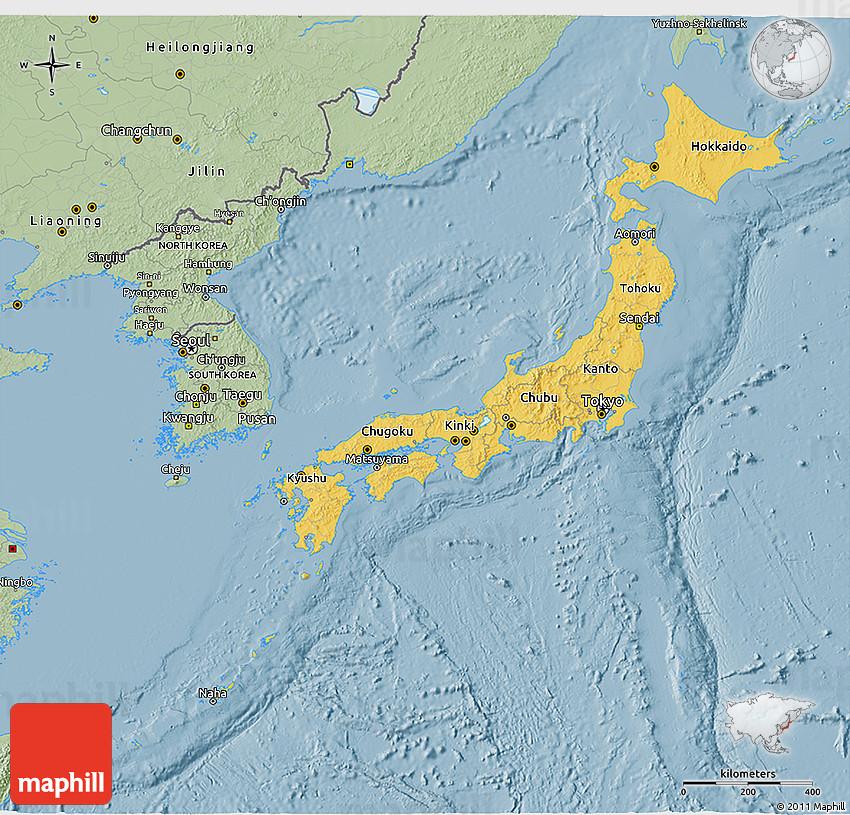 Savanna Style D Map Of Japan - Tokyo japan 3d map