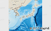 Shaded Relief 3D Map of Japan