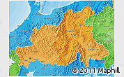 Political Shades 3D Map of Chubu