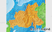 Political Shades Map of Chubu