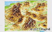 Physical Panoramic Map of Nagano