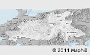 Gray Panoramic Map of Chubu