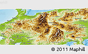 Physical Panoramic Map of Chubu