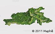 Satellite Panoramic Map of Chubu, cropped outside