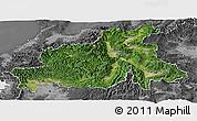 Satellite Panoramic Map of Chubu, desaturated