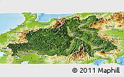 Satellite Panoramic Map of Chubu, physical outside