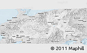 Silver Style Panoramic Map of Chubu