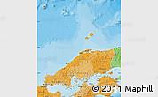 Political Shades Map of Chugoku
