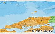 Political Shades Panoramic Map of Chugoku