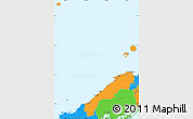 Political Simple Map of Shimane