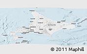 Gray Panoramic Map of Hokkaido