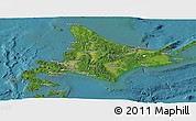 Satellite Panoramic Map of Hokkaido