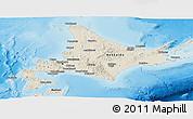 Shaded Relief Panoramic Map of Hokkaido