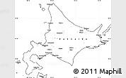 Blank Simple Map of Hokkaido