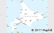 Classic Style Simple Map of Hokkaido