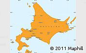 Political Simple Map of Hokkaido
