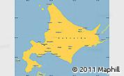 Savanna Style Simple Map of Hokkaido