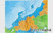 Political Shades 3D Map of Hokuriku