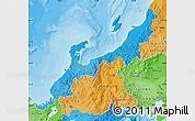 Political Shades Map of Hokuriku