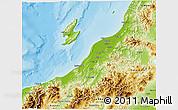Physical 3D Map of Niigata