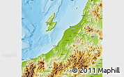 Physical Map of Niigata