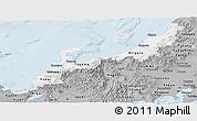 Gray Panoramic Map of Hokuriku