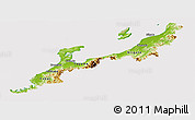 Physical Panoramic Map of Hokuriku, cropped outside