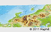 Physical Panoramic Map of Hokuriku