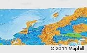 Political Panoramic Map of Hokuriku