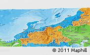 Political Shades Panoramic Map of Hokuriku
