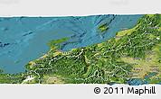 Satellite Panoramic Map of Hokuriku